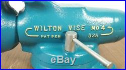 Wilton Tool Corp no4 Bullet Vise With Swivel Base Early Fish Hook Logo 1941/2