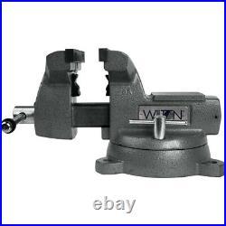 Wilton Tools 21500 6 Wide Jaw 5 3/4 Opening Steel Swivel Base Mechanics Vise