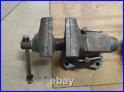 Wilton Vise Model 1750 5 Inch Jaws Swivel Base Anvil Heavy Machinist Bench