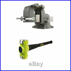 Wilton WS6 6 Inch Steel Swivel Base Bench Vise with BASH 6 Pound Sledge Hammer