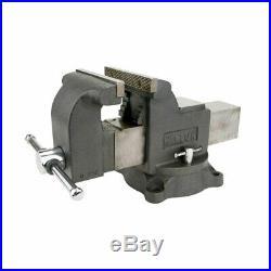 Wilton WS8 8 Inch Jaw 4 Inch Throat Steel Swivel Base Work Shop Bench Vise, Gray