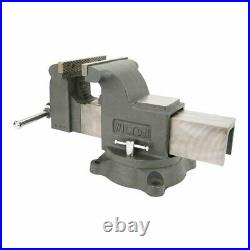 Wilton WS8 8 Inch Steel Swivel Base Bench Vise with 3 Piece Steel Hammer Set Kit