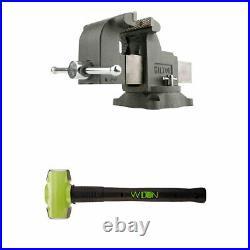 Wilton WS8 8 Inch Steel Swivel Base Work Bench Vise with 6 Pound Sledge Hammer
