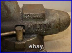 Wilton bullet vise 3 1/2 jaw swivel base USA pipe jaws & anvil 50 lb heavy duty