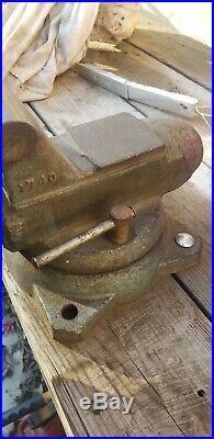 Wilton vise vintage 1740 bench vise 4 jaws swivel base