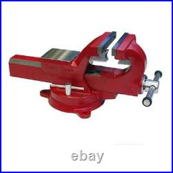 Yost Bench Vise Swivel Base Powder Coated Adjustable Guide Rails 4 in. Jaw Width
