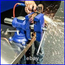 Yost Vises 750-DI, Multi-Jaw Rotating Combination Pipe & Bench Vise, Swivel Base