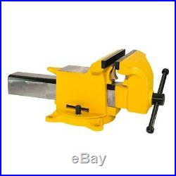 Yost Workshop Bench Vise Utility 10 Inch High Visibility Steel Swivel Base Tool