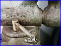 #ad100 Vintage Wilton Bullet Vise 3 Jaws 300 Machinist 360 Swivel Base, Anvil